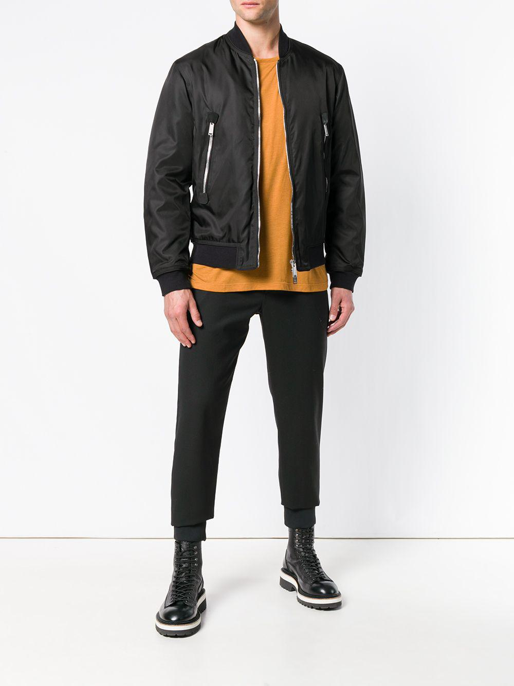 DSquared² Synthetic Bomber Jacket in Black for Men