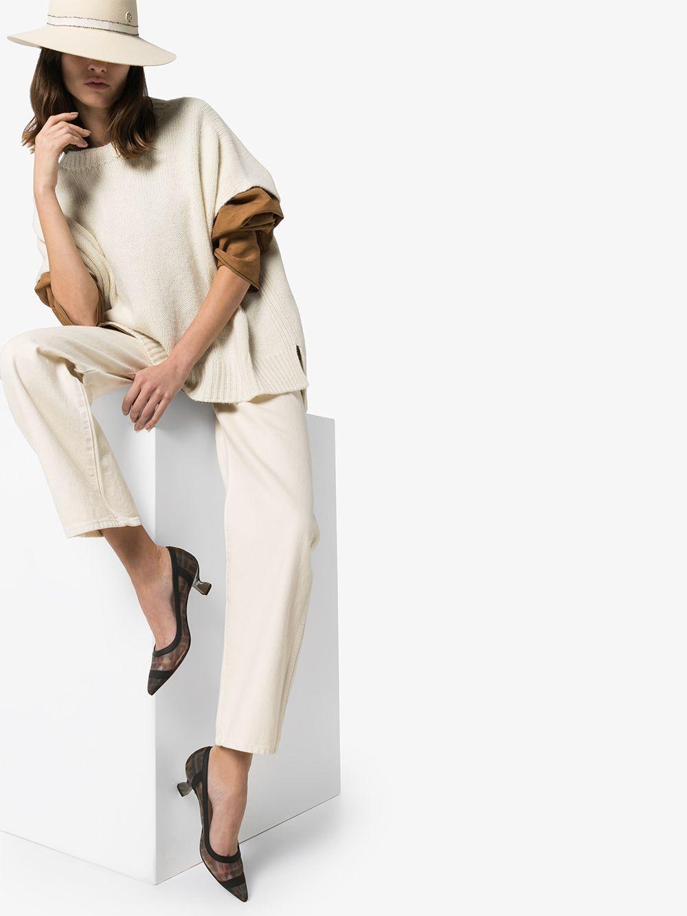 Zapatos de tacón Colibri con estampado FF Fendi de Cuero de color Marrón