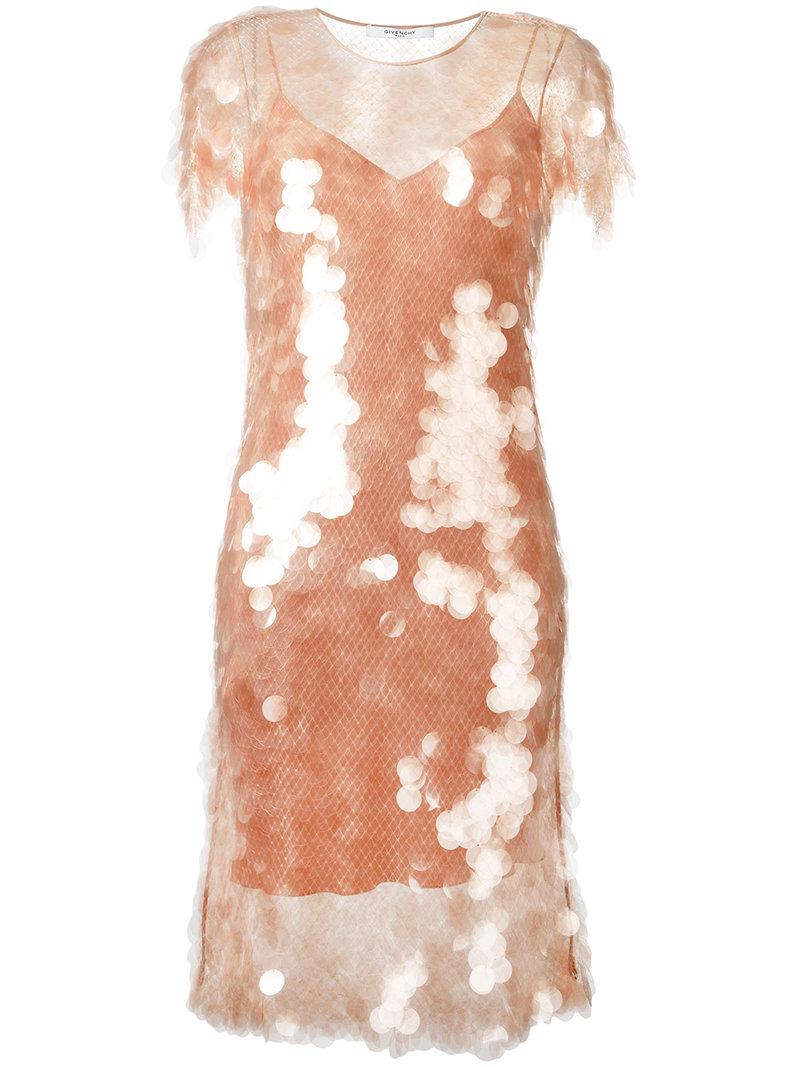 c2119e4752 Lyst - Givenchy Sequin Dress With Slip