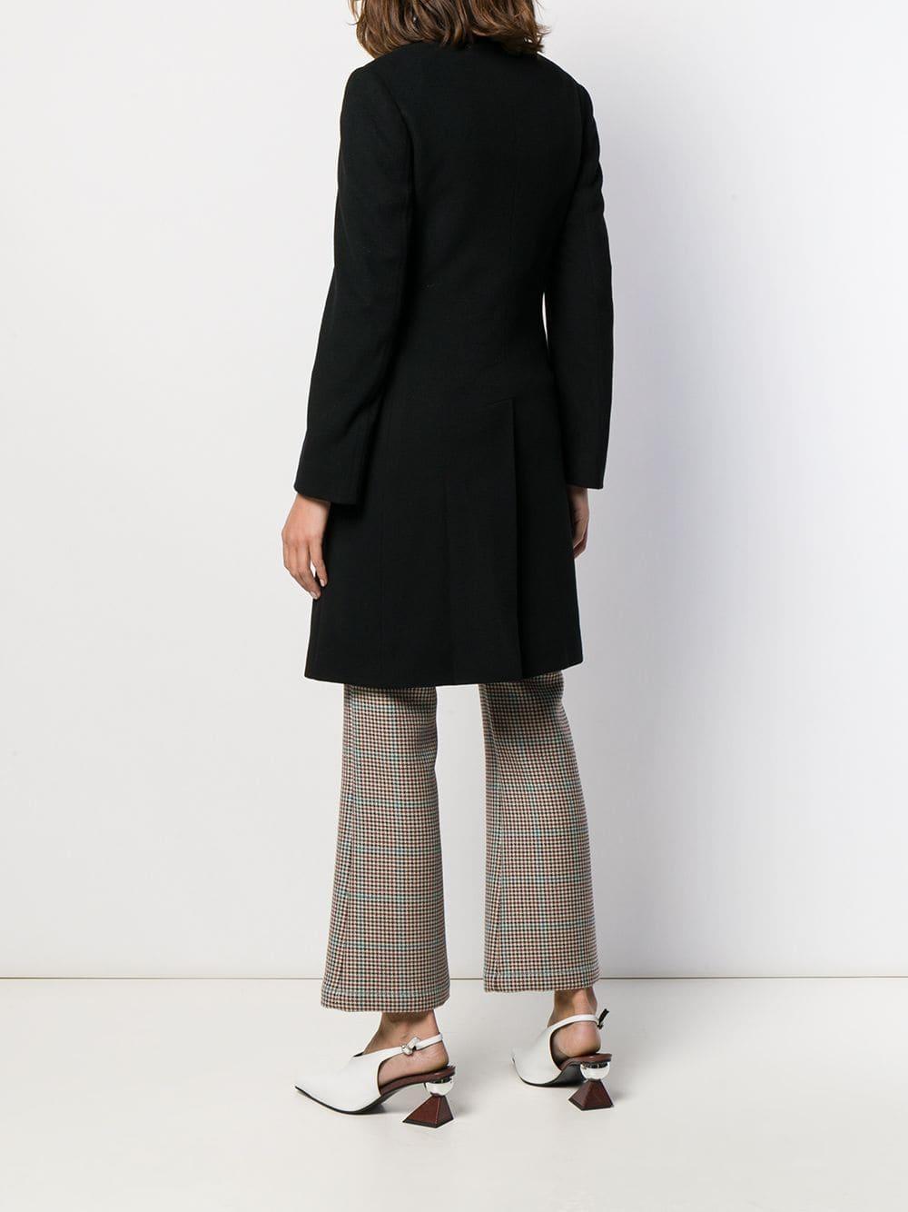 Manteau droit classique Laines Tagliatore en coloris Noir f7g3d