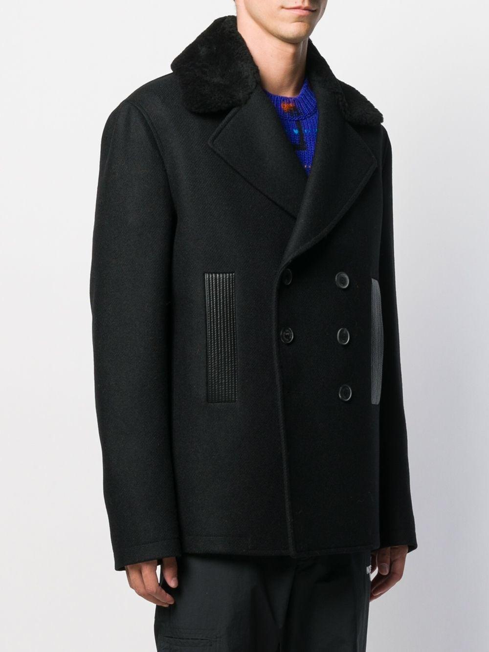 Manteau court à boutonnière croisée Laines Les Hommes pour homme en coloris Noir gJADo