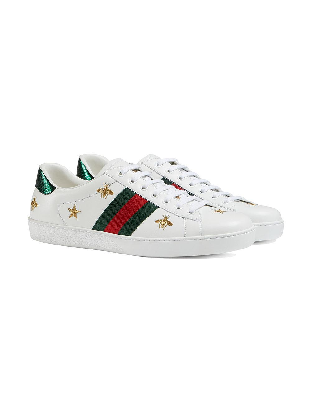 c5b5685ef04 Lyst - Gucci Ace Embroidered Low-top Sneaker in White for Men
