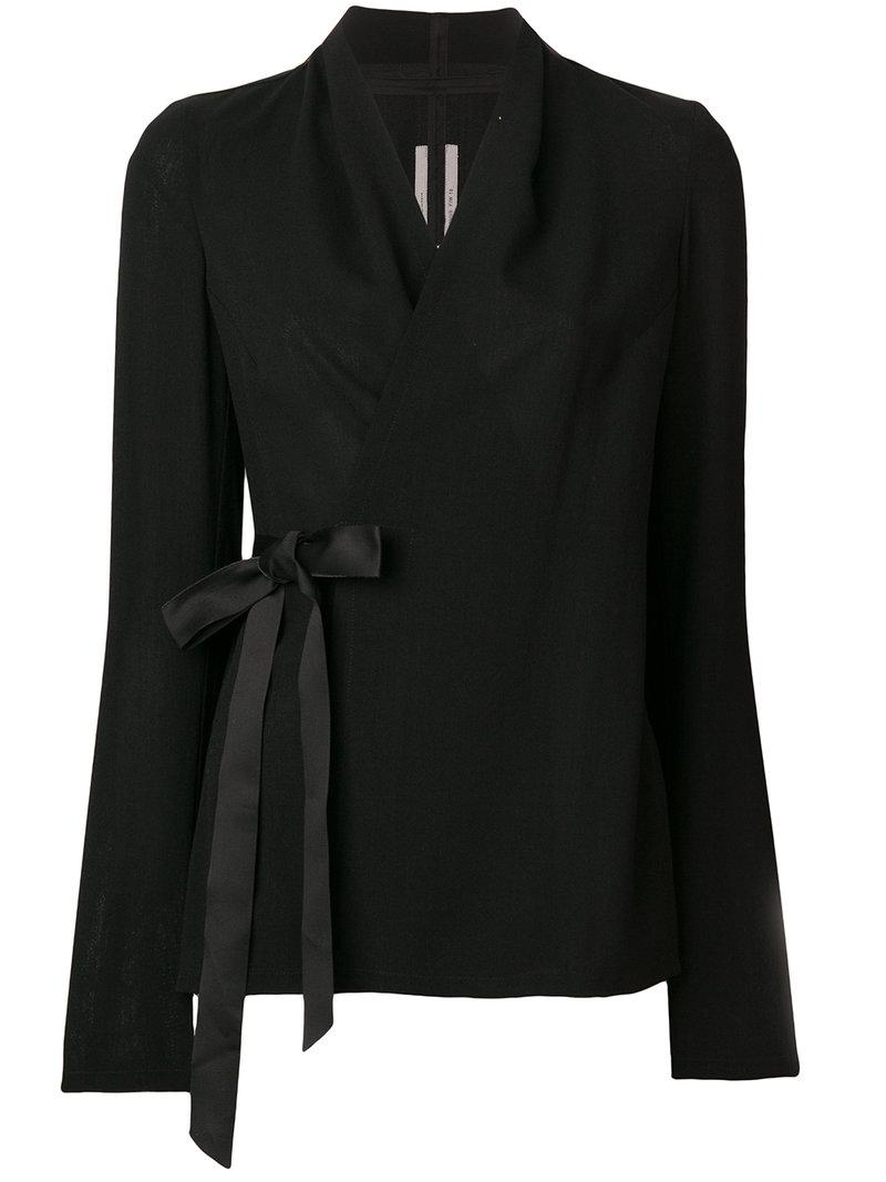 Recommend Rick Owens side tie blazer Discount Wholesale Price 2018 New GIr2M5mi