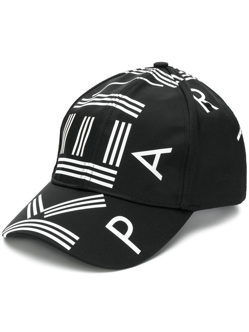 c3f62f2bd42 Lyst - KENZO Paris Logo Cap in Black for Men