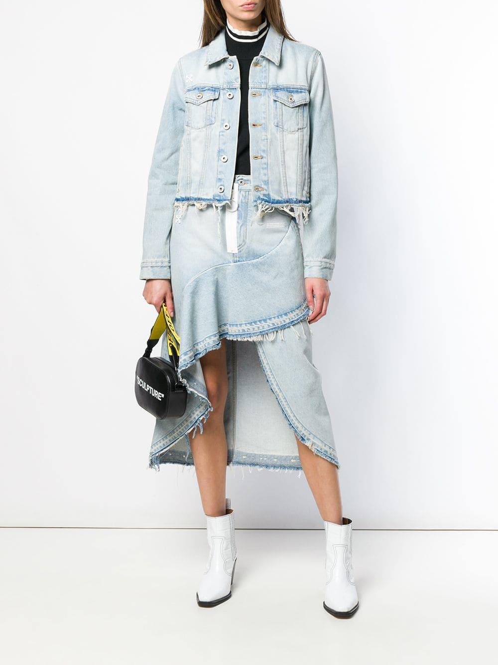 4fc501f7a6 Lyst - Off-White c/o Virgil Abloh Asymmetric Denim Skirt in Blue - Save 71%