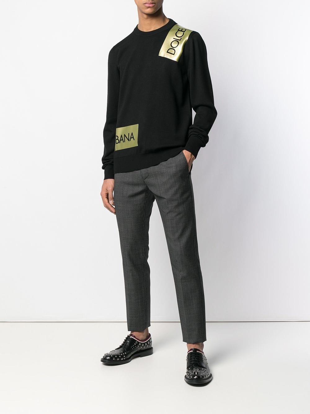 215f3948 Lyst - Dolce & Gabbana Logo Band Sweater in Black for Men
