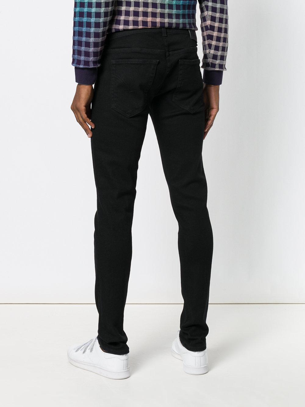 Dondup Denim Straight Leg Jeans in Black for Men