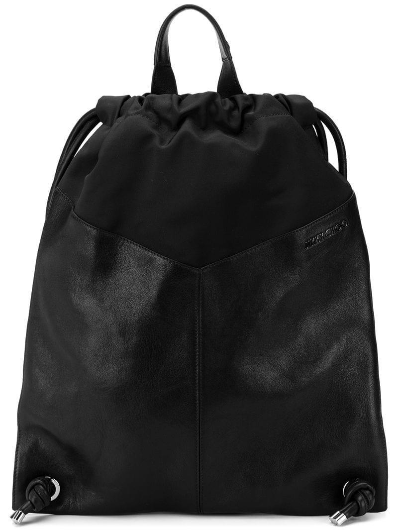 c74c56b50f Jimmy Choo Marlon Biker Star Stud Backpack in Black for Men - Lyst