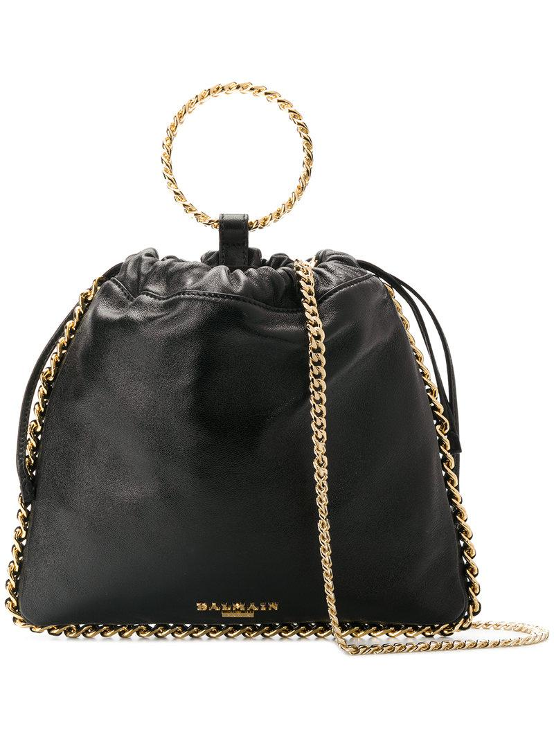 Chaîne Balmain Garni Sac Logo - Noir 100% Garanti En Ligne Livraison Gratuite Bon Marché KhQzMZ1t