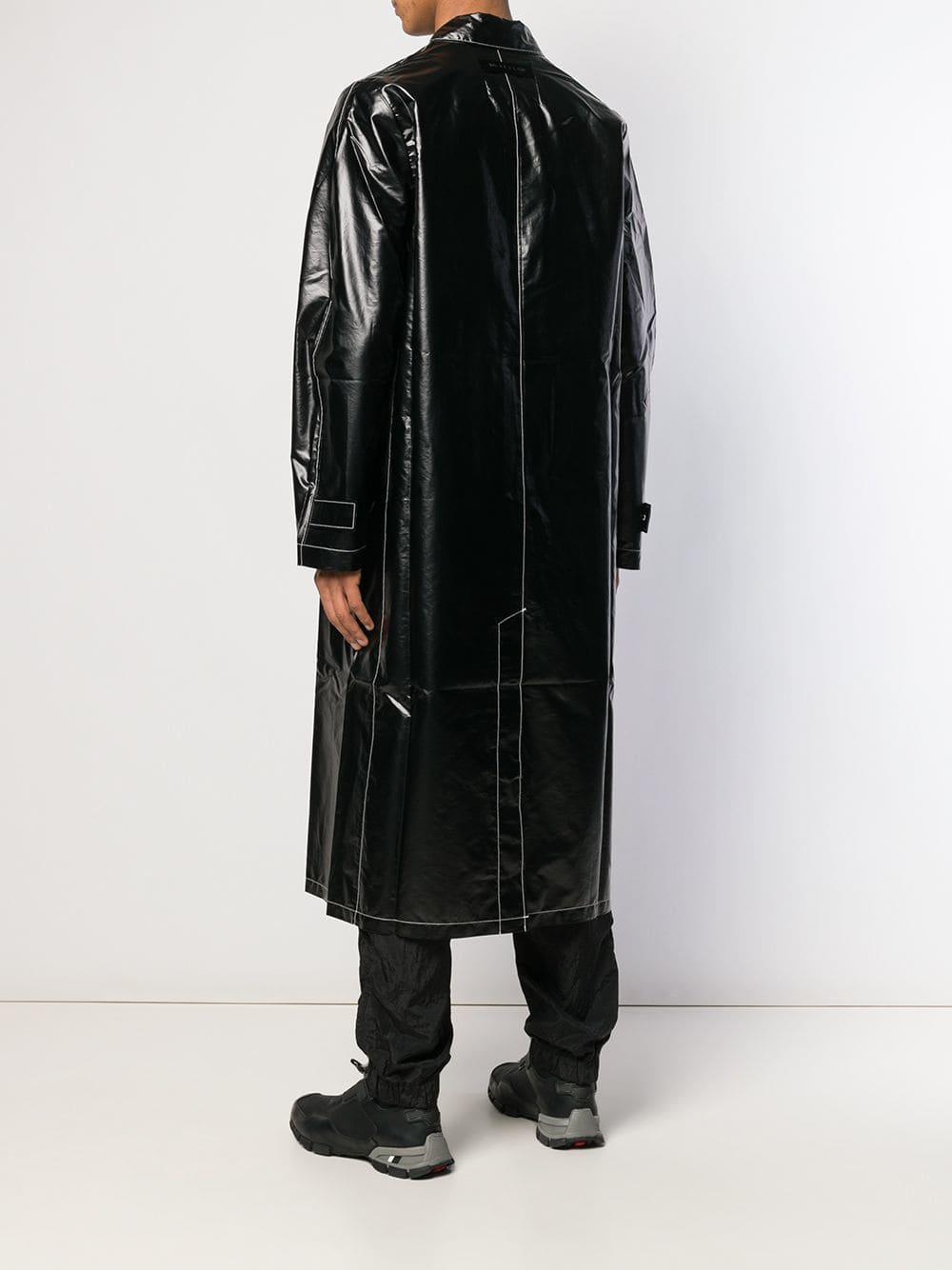 1017 ALYX 9SM Trenchcoat Van Imitatieleer in het Zwart voor heren