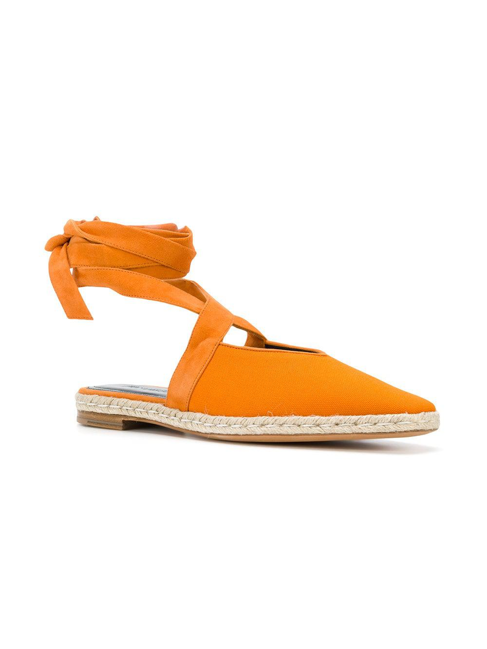 30306d8cc Lyst - JW Anderson Lace-up Espadrille Flats in Orange