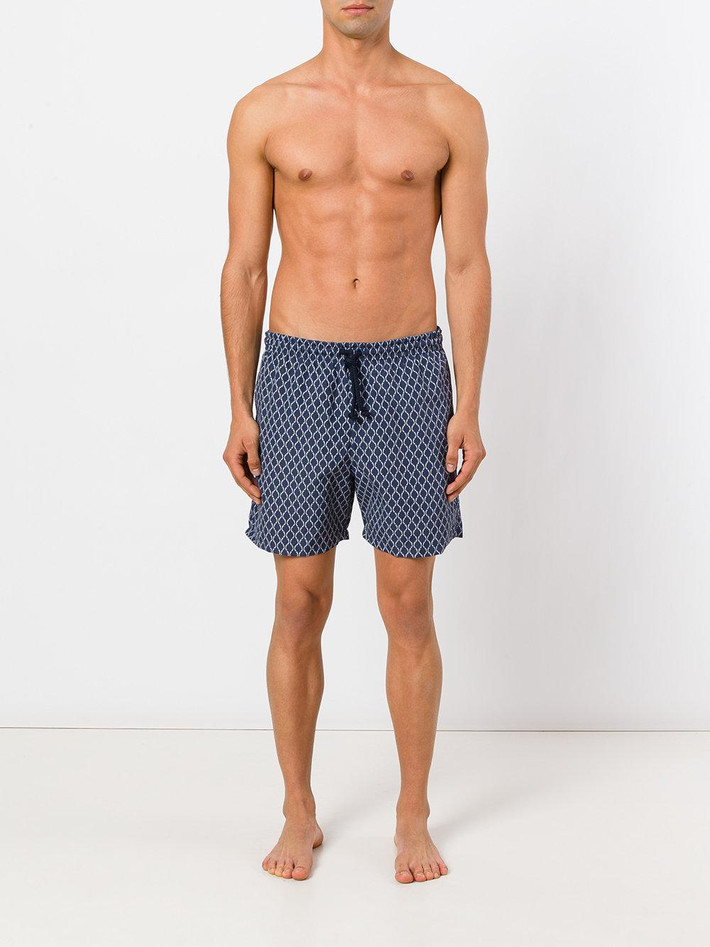 Fashion Clinic Synthetisch Zwembroek Met Print in het Blauw voor heren