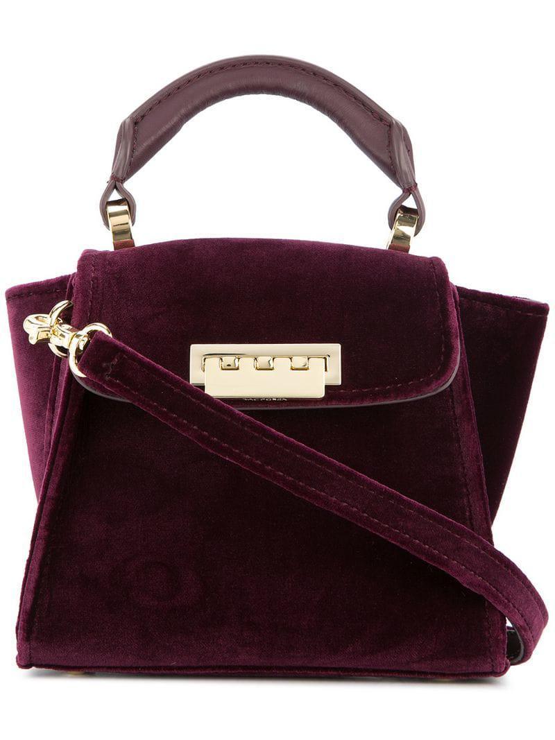 Zac Zac Posen Eartha Iconic Mini Velvet Bag In Pink Lyst