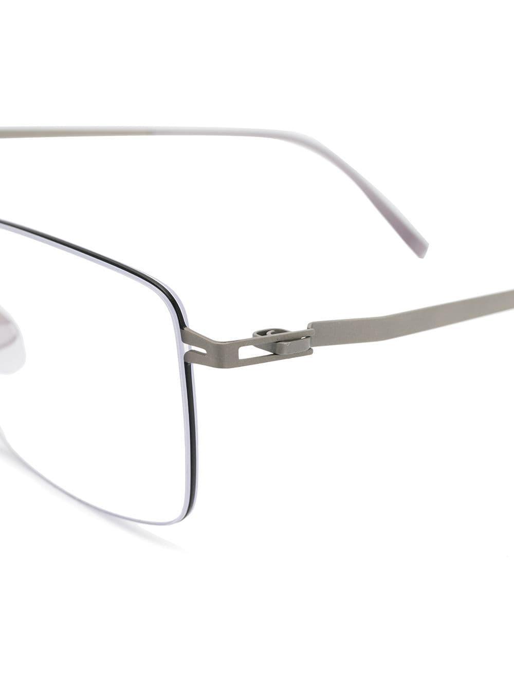 740214efd54 Mykita - Metallic Rectangular Glasses Frames for Men - Lyst. View fullscreen