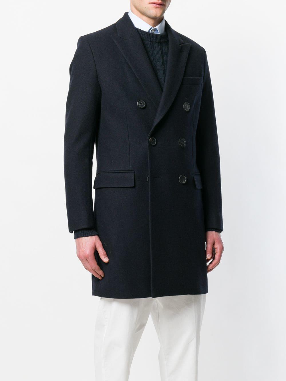 Manteau croisé Laines AMI pour homme en coloris Bleu P4rnK