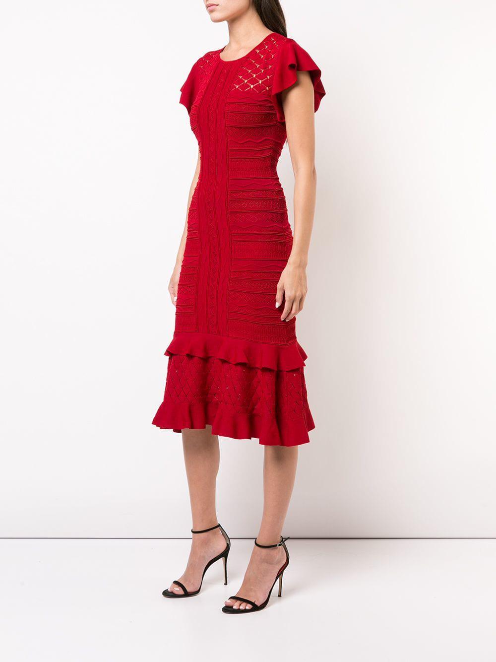 Sachin & Babi Shivon Ruffled Dress in Red - Lyst