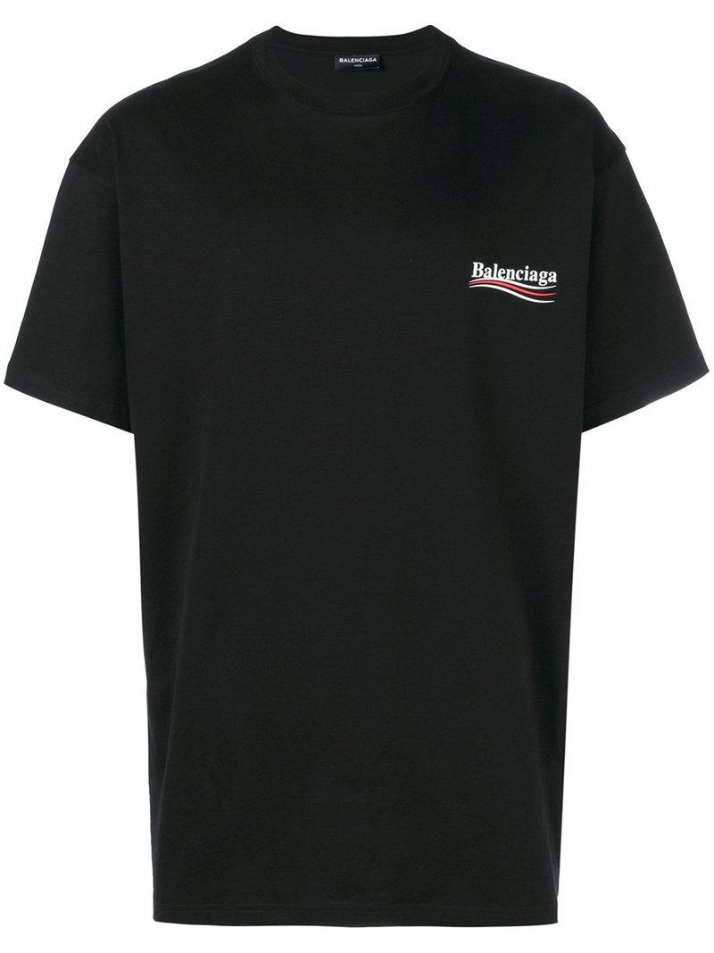 Lyst Balenciaga Political T Shirt In Black For Men
