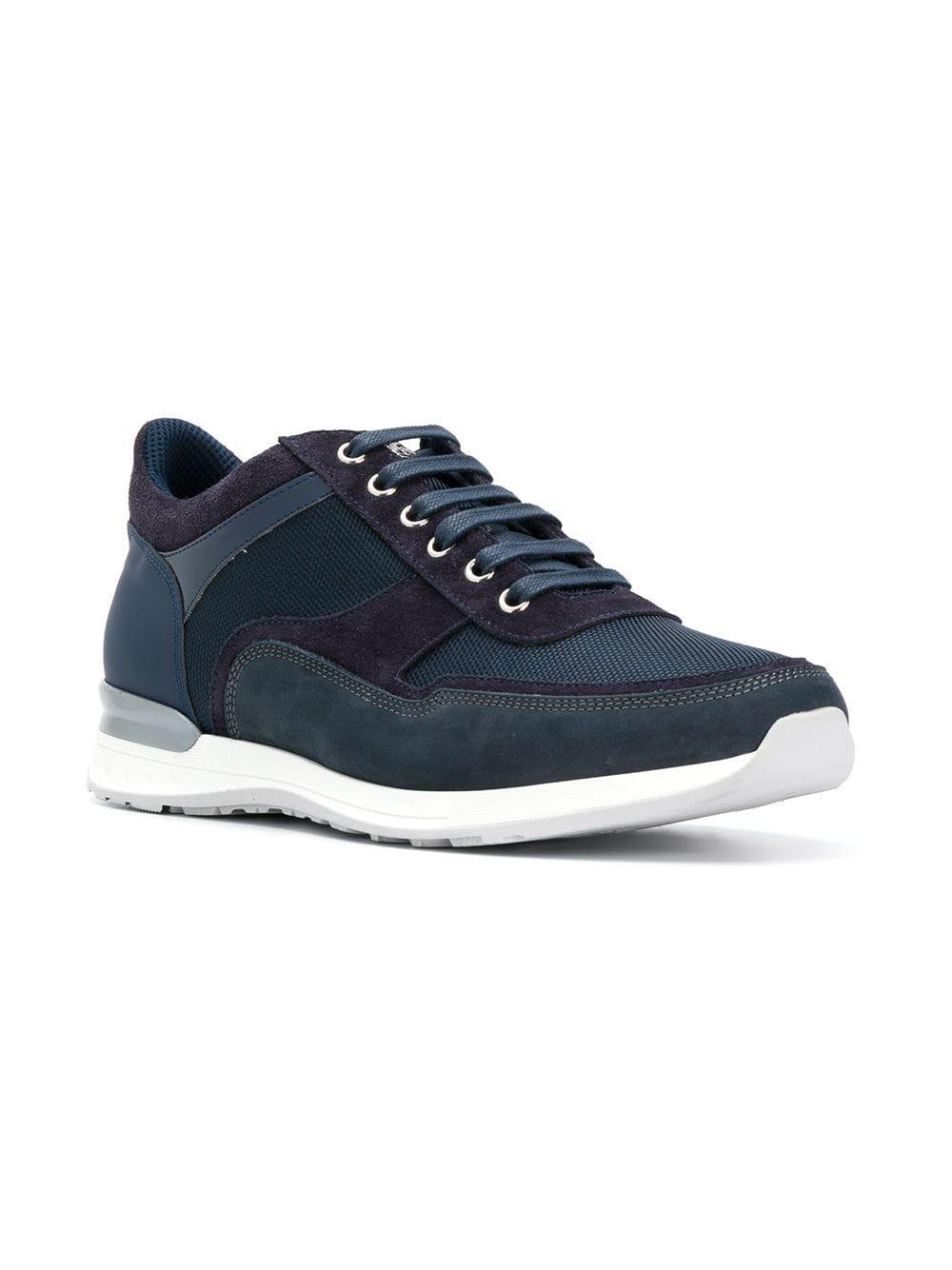 Zapatillas bajas clásicas Corneliani de Cuero de color Azul para hombre