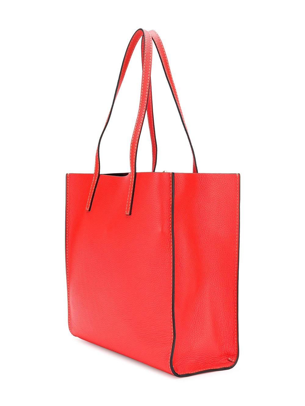 Marc Jacobs Leather The Bold Grind Shopper Tote Bag in Red
