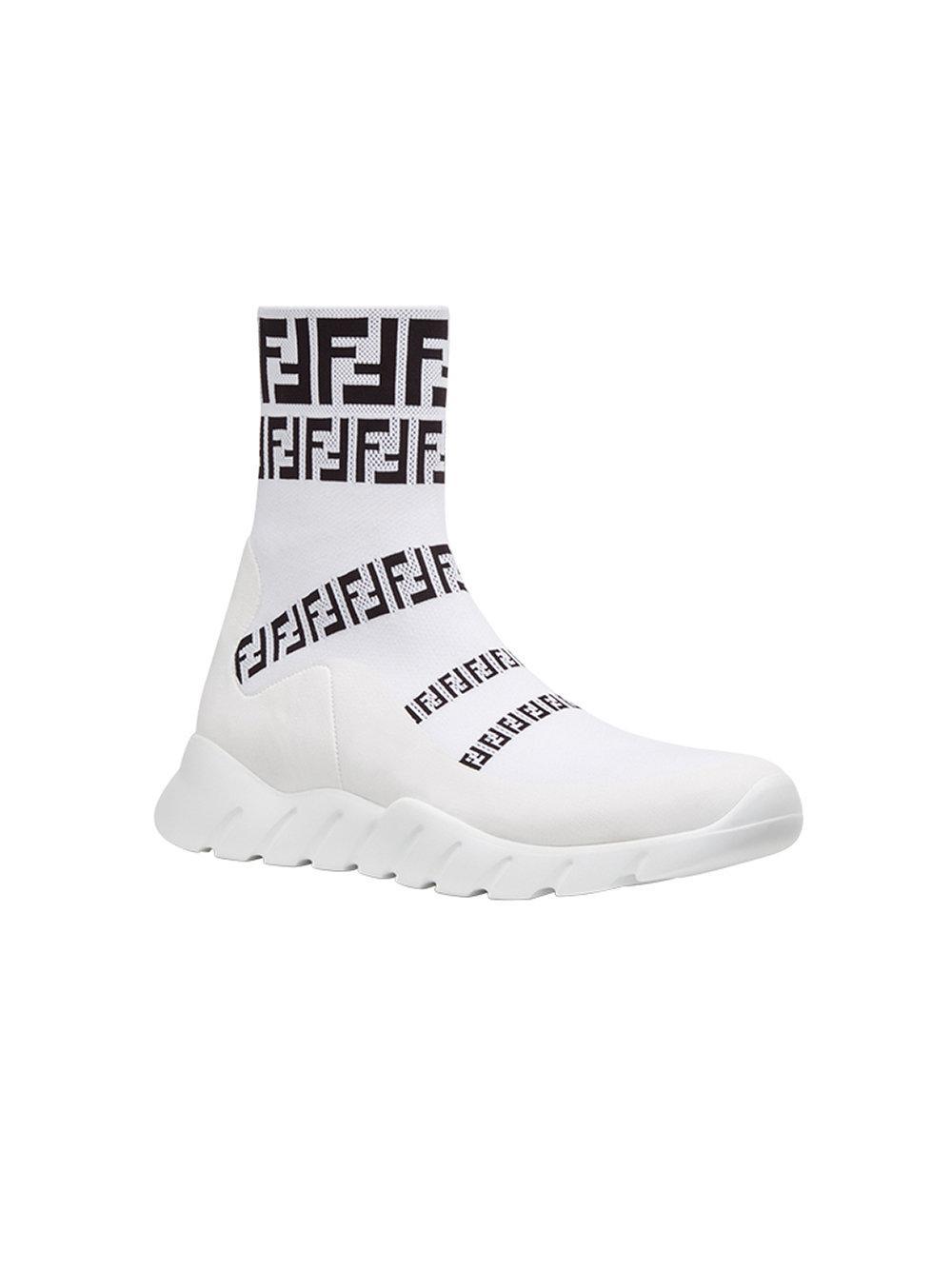 fcdd9ca71fc39 Men s White Slip-on Sock Sneakers