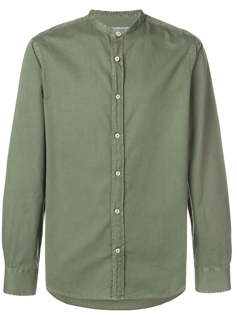 Free Shipping Cheapest classic button shirt - Green Officine Generale Lowest Price KwE3pFnQ7u