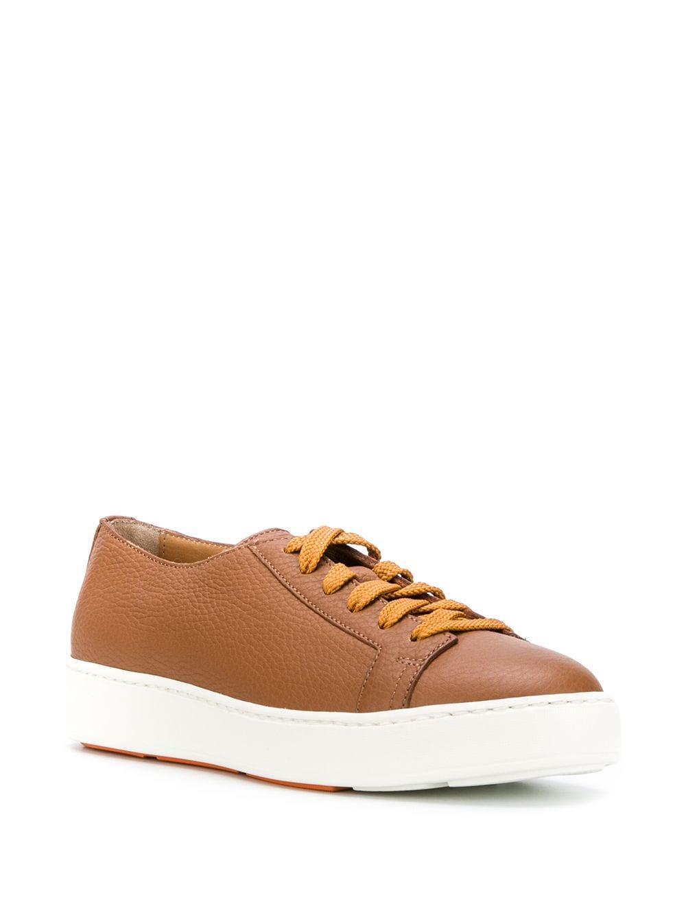 Zapatillas bajas con logo Santoni de Cuero de color Marrón