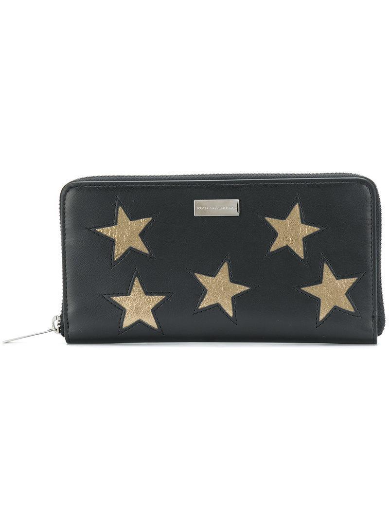Stella McCartney Portefeuille à détails d'étoiles tc4Xo