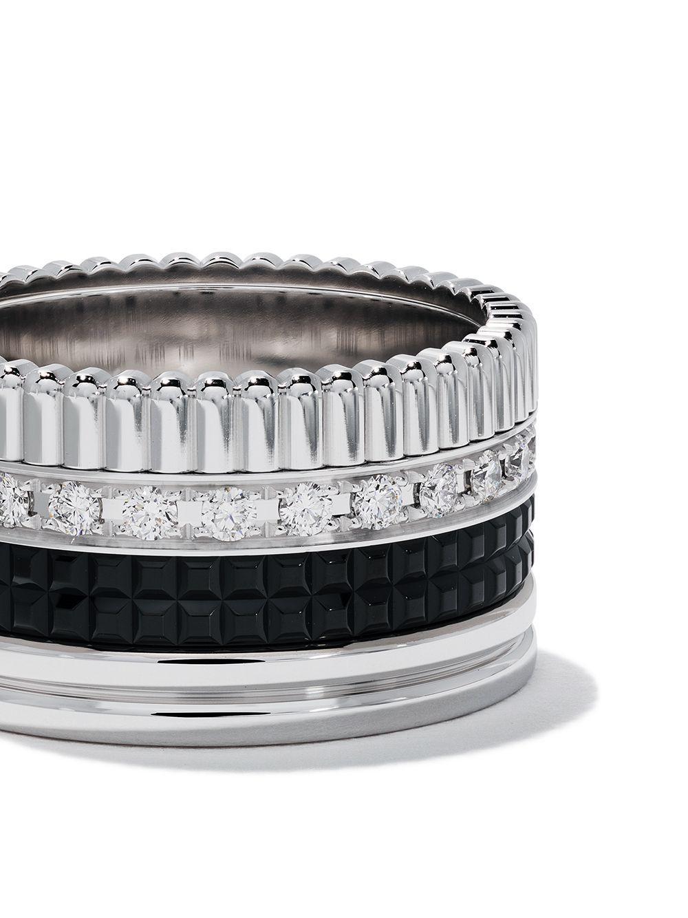 Anello Quatre in oro bianco 18 carati con diamante di Boucheron in Metallizzato