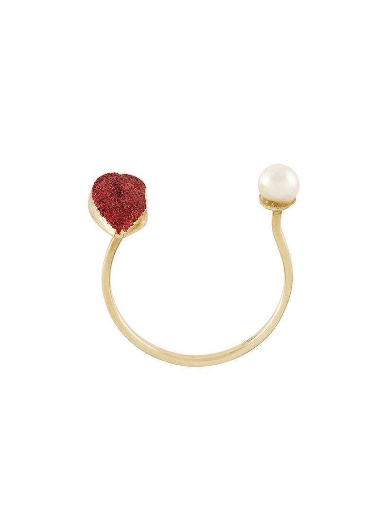 Delfina Delettrez Lips piercing ring - Metallic hiLPSby