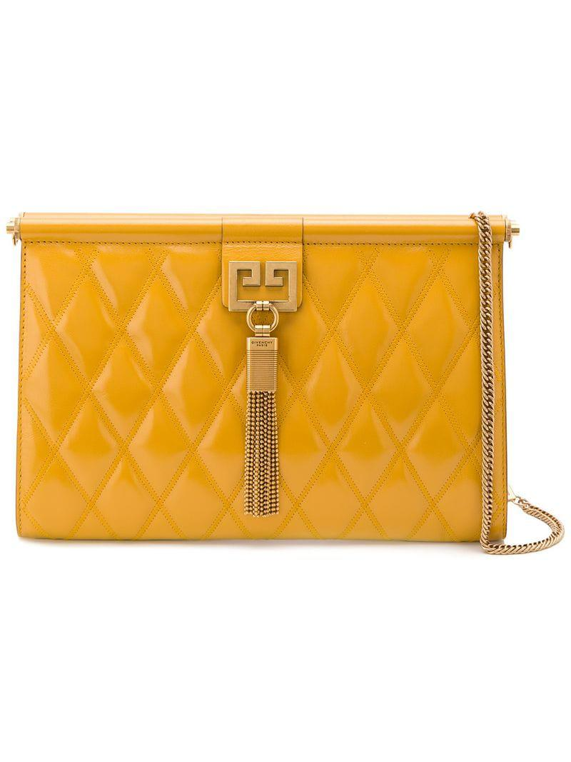 4f379f66fb4 Lyst - Givenchy Gem Quilted Shoulder Bag in Yellow