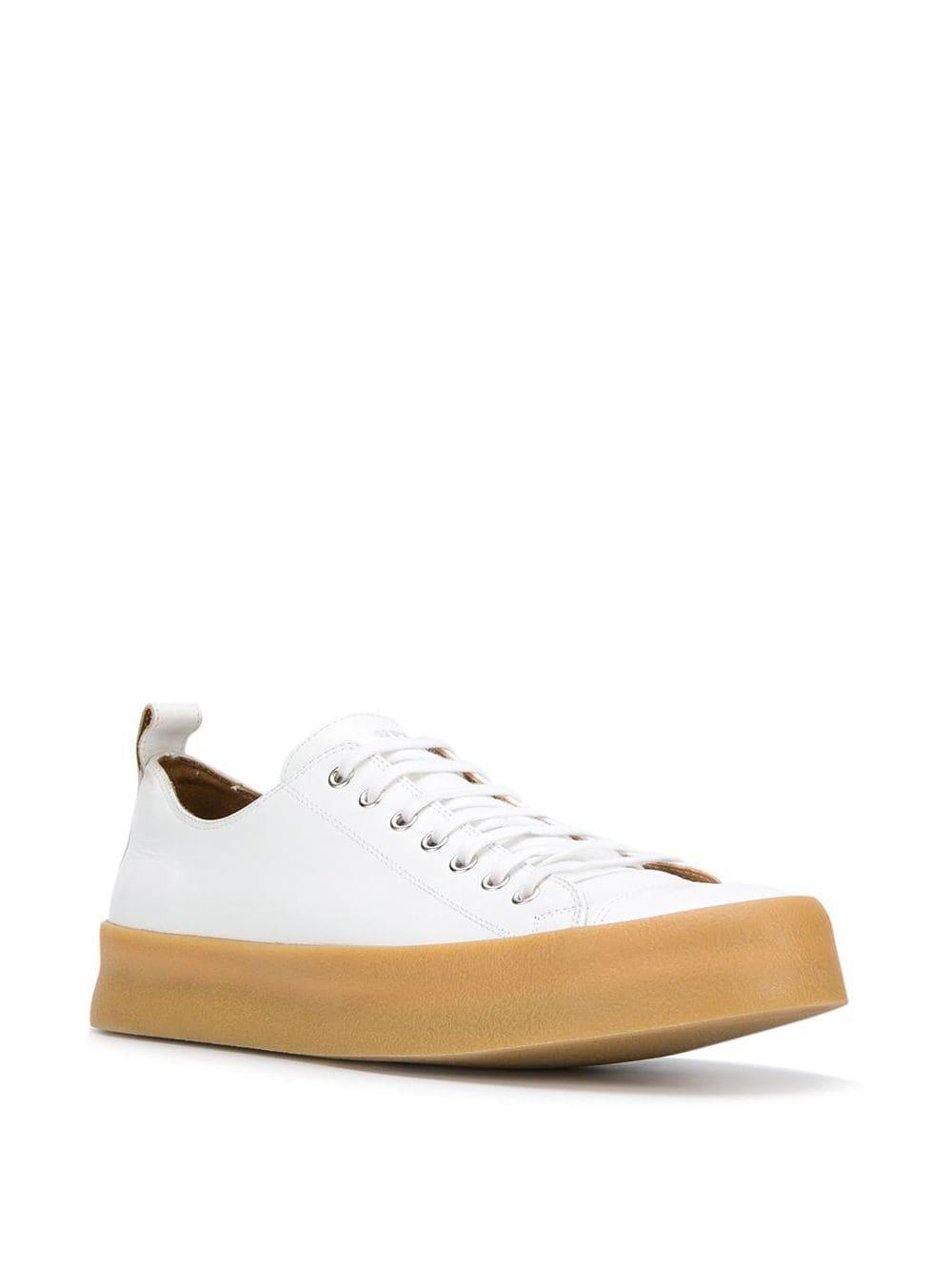 Zapatillas bajas AMI de Cuero de color Blanco para hombre
