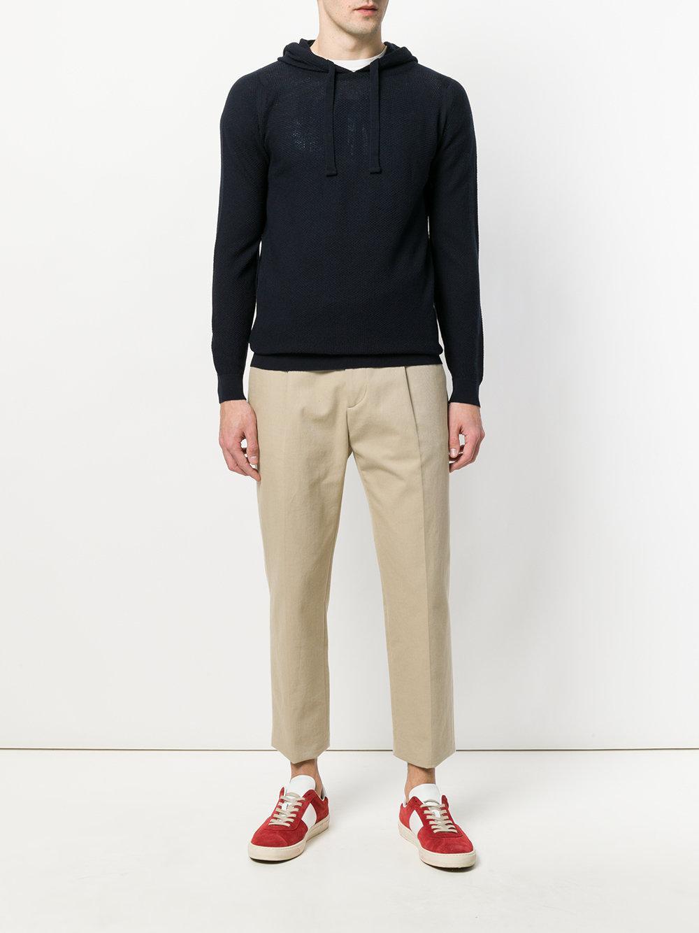 John Smedley Wool 4singular Hooded Sweater in Blue for Men