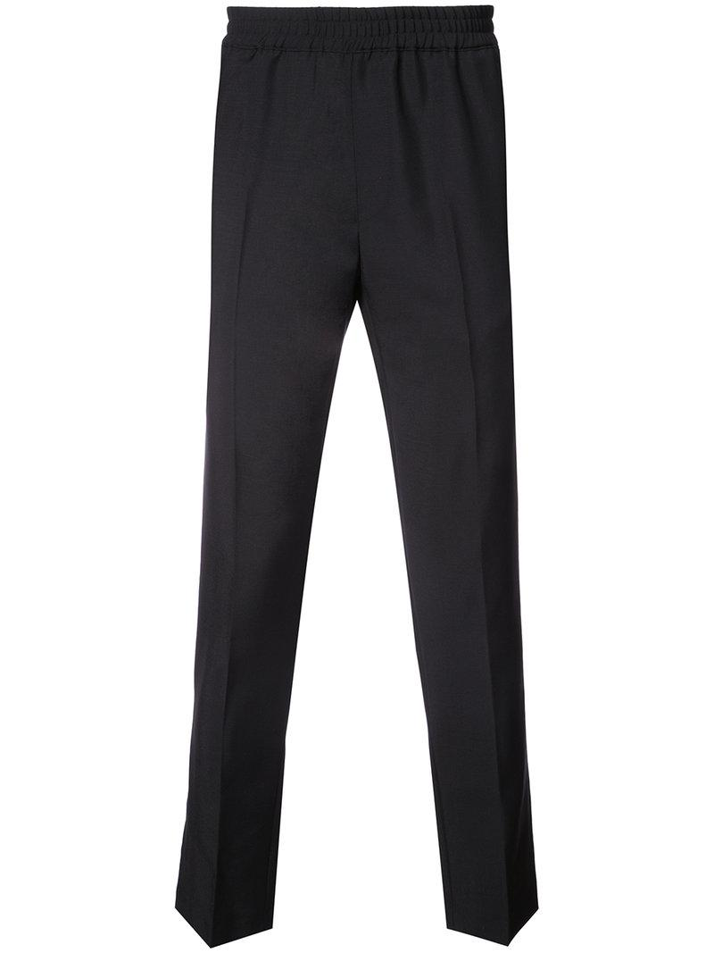 Paolo elasticated waistband creased trousers - Black Harmony 2ke82OjPC