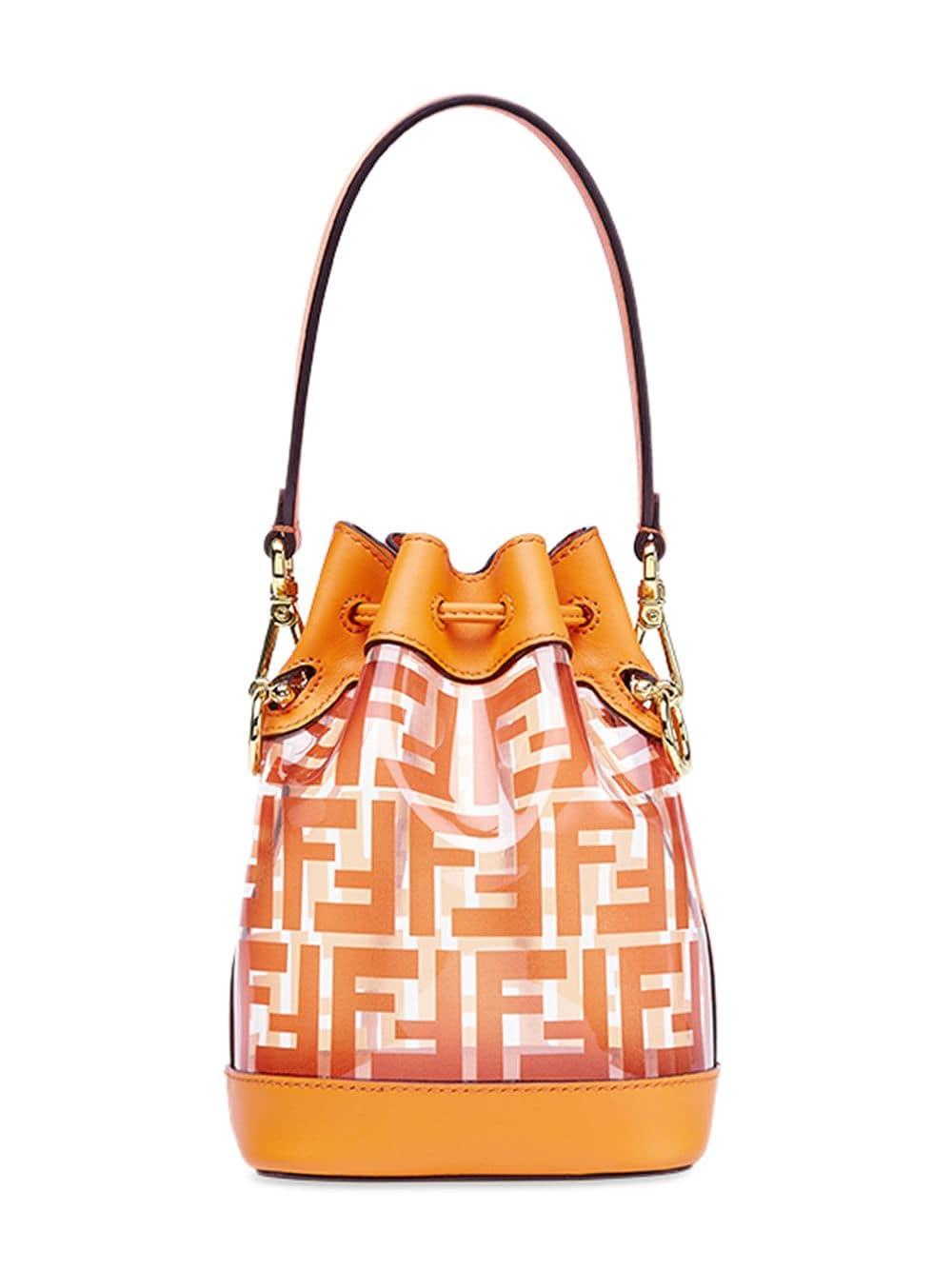 98880a8680ed Lyst - Fendi Mon Tresor Mini Bucket Bag in Orange