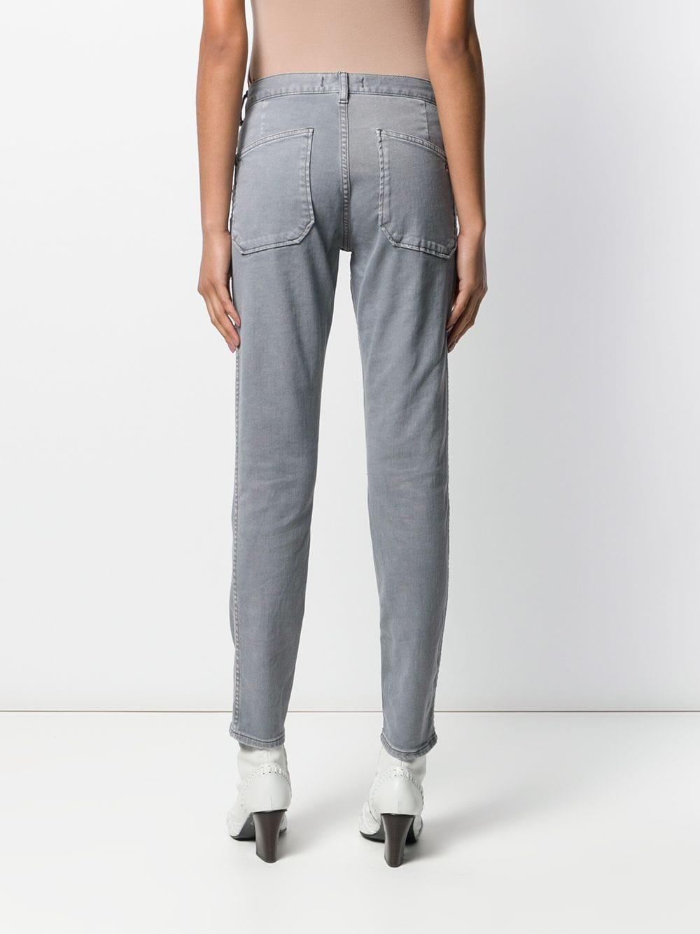 Ba&sh Denim 'Volt' Jeans mit schmalem Bein in Grau 0UAhD