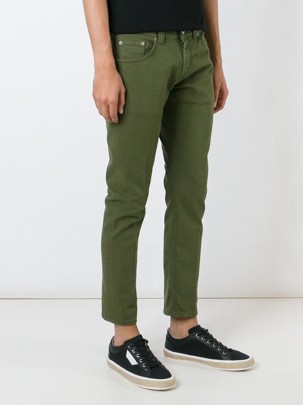 Dondup Denim Classic Slim Jeans in Green for Men