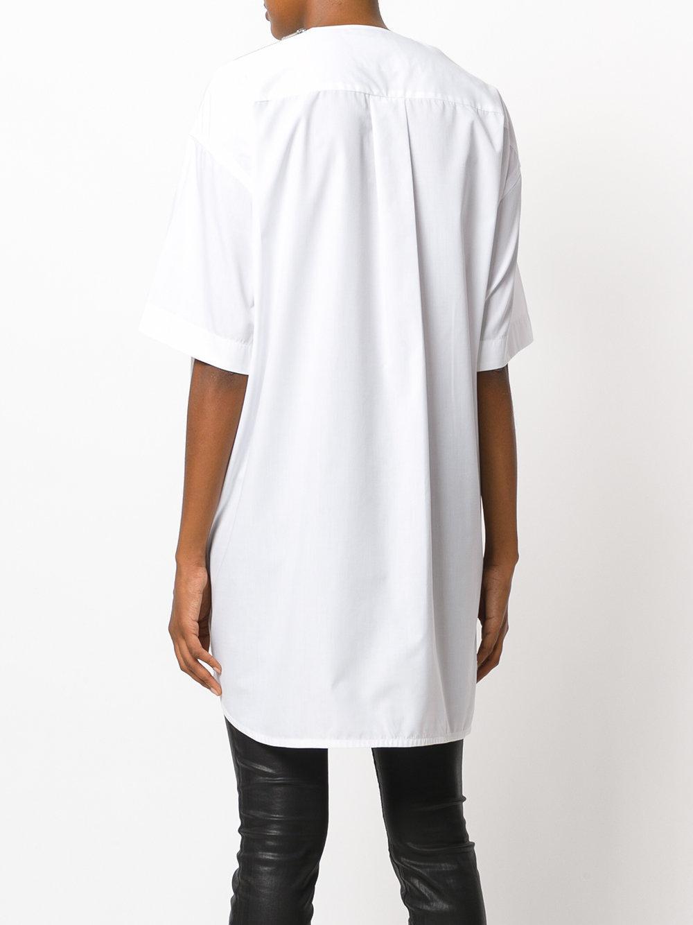 T Shirt Lyst Un vida la en White día Sacai 7qwPUvxY
