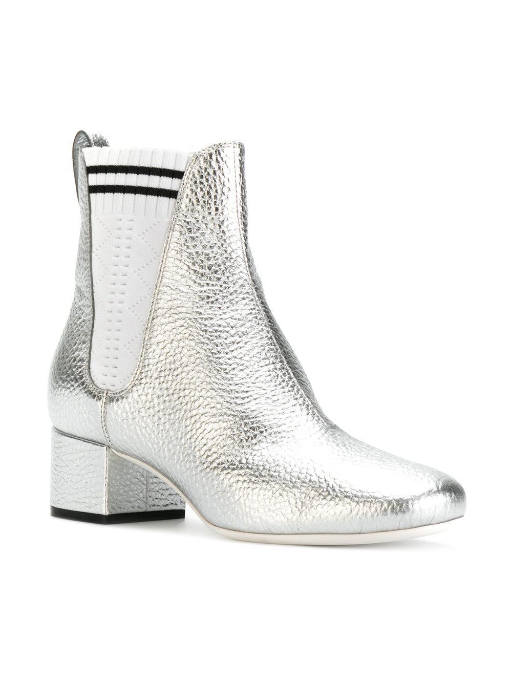 sock detail Chelsea boots - Metallic Fendi Outlet Best Sale wUrObfcG2