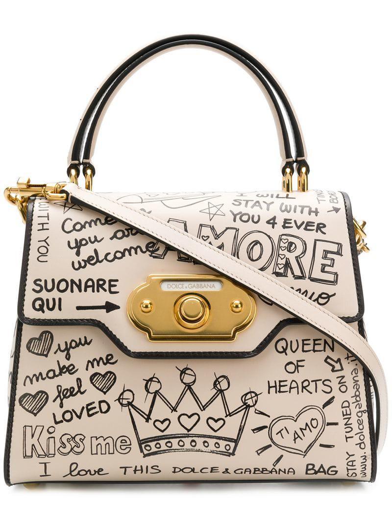 Lyst - Dolce   Gabbana Welcome Graffiti Logo Tote 3f3f7c3a16cd3