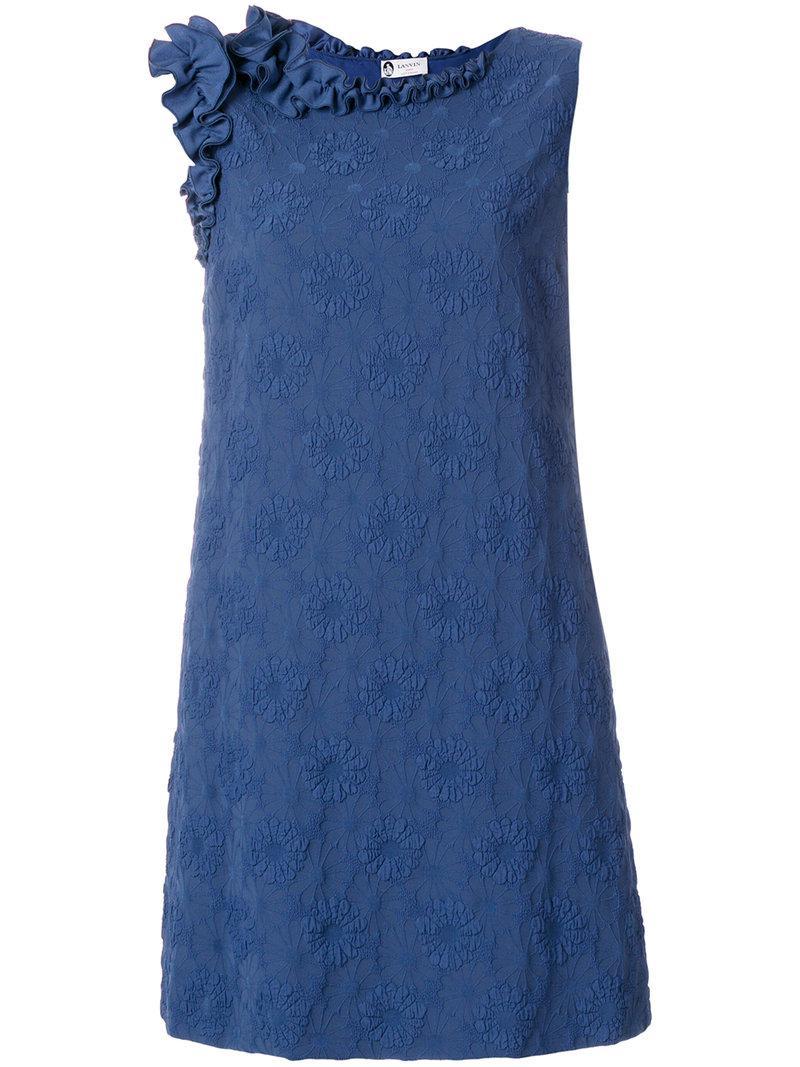 floral cloqué dress - Blue Lanvin Comfortable Cheap Online g45JQl
