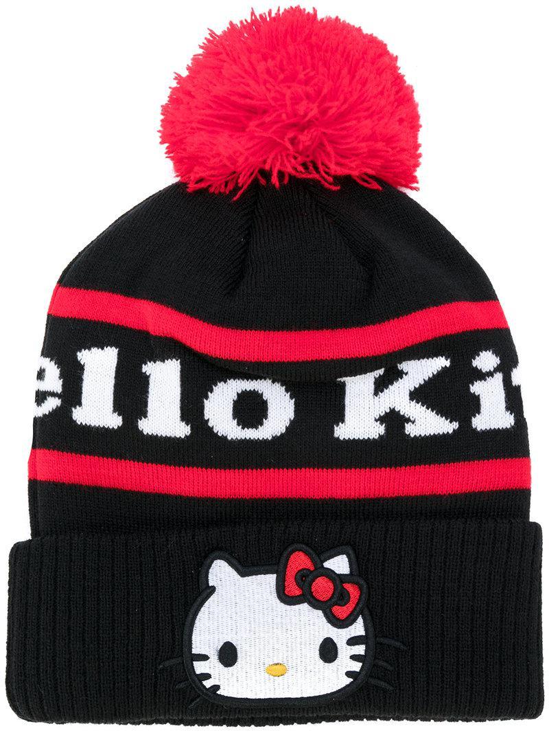b06665e2b47 Lyst - Gcds Hello Kitty Beanie in Black