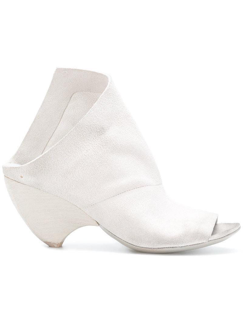 Lyst - Marsèll Open Toe Chunky Heel Sandals in White