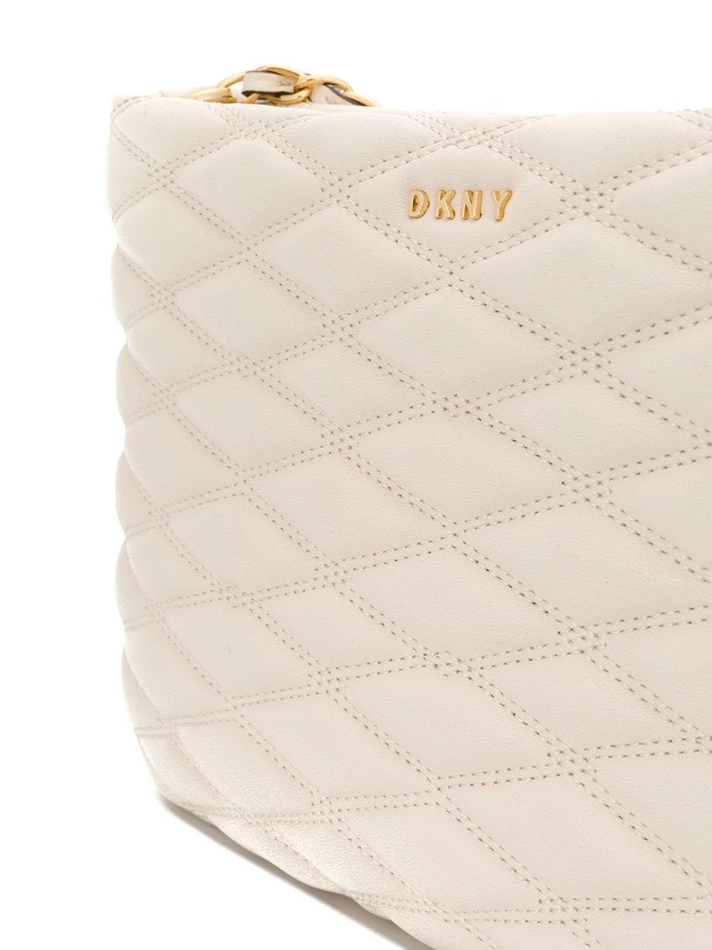 Donna Karan Lara Quilted Crossbody Bag in Natural