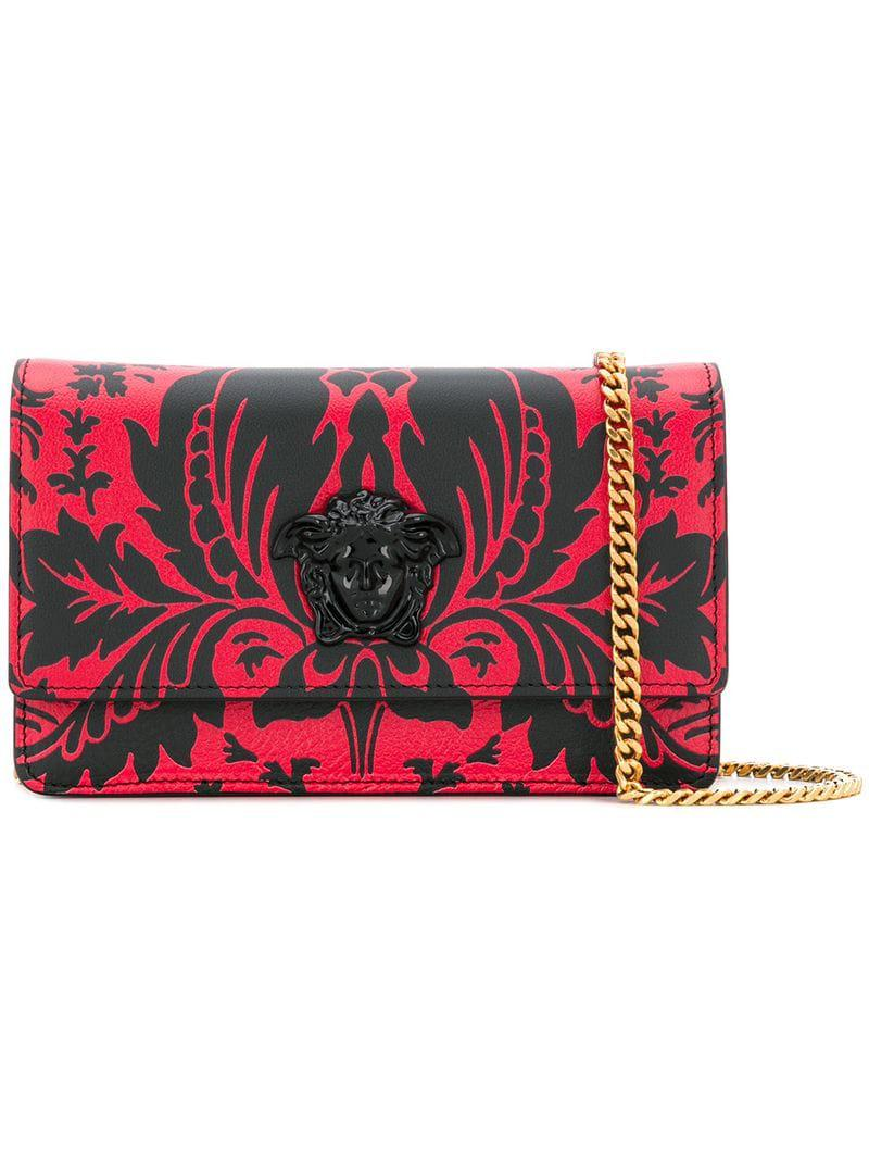 4c76bbe743a6 Versace Printed Crossbody Bag in Red - Lyst