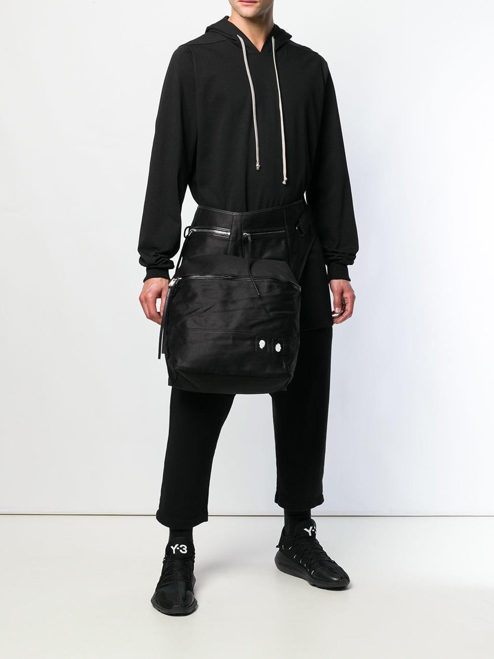 Lyst - Rick Owens Drkshdw Oversized Belt Bag in Black for Men 97a12e4baed2c