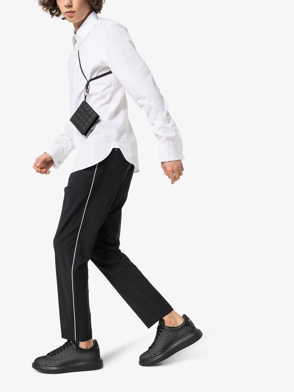 Alexander McQueen Leer Chunky Sneakers in het Zwart voor heren
