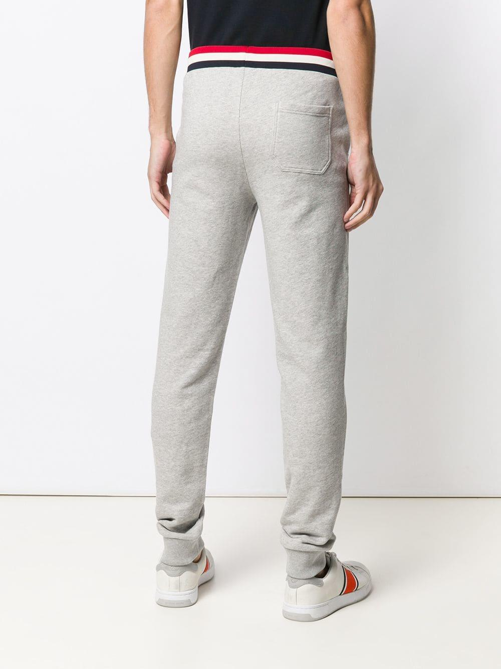 b84a5ff05930 Lyst - Moncler Striped Waistband Track Pants in Gray for Men