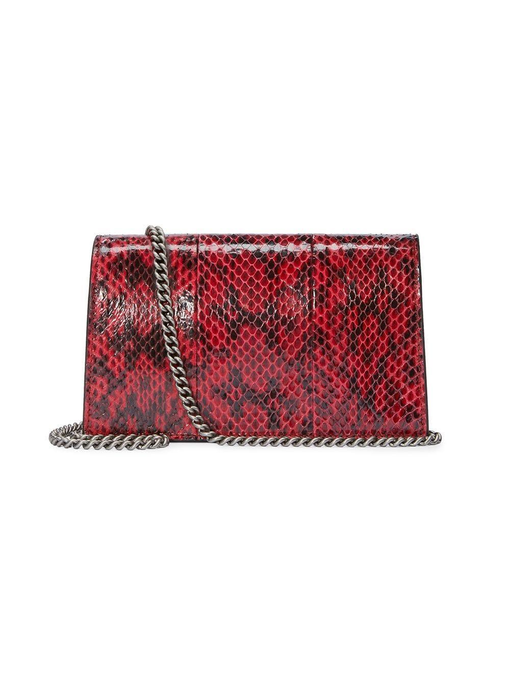 a74bcd36a2a Lyst - Gucci Dionysus Super Mini Snakeskin Bag in Red