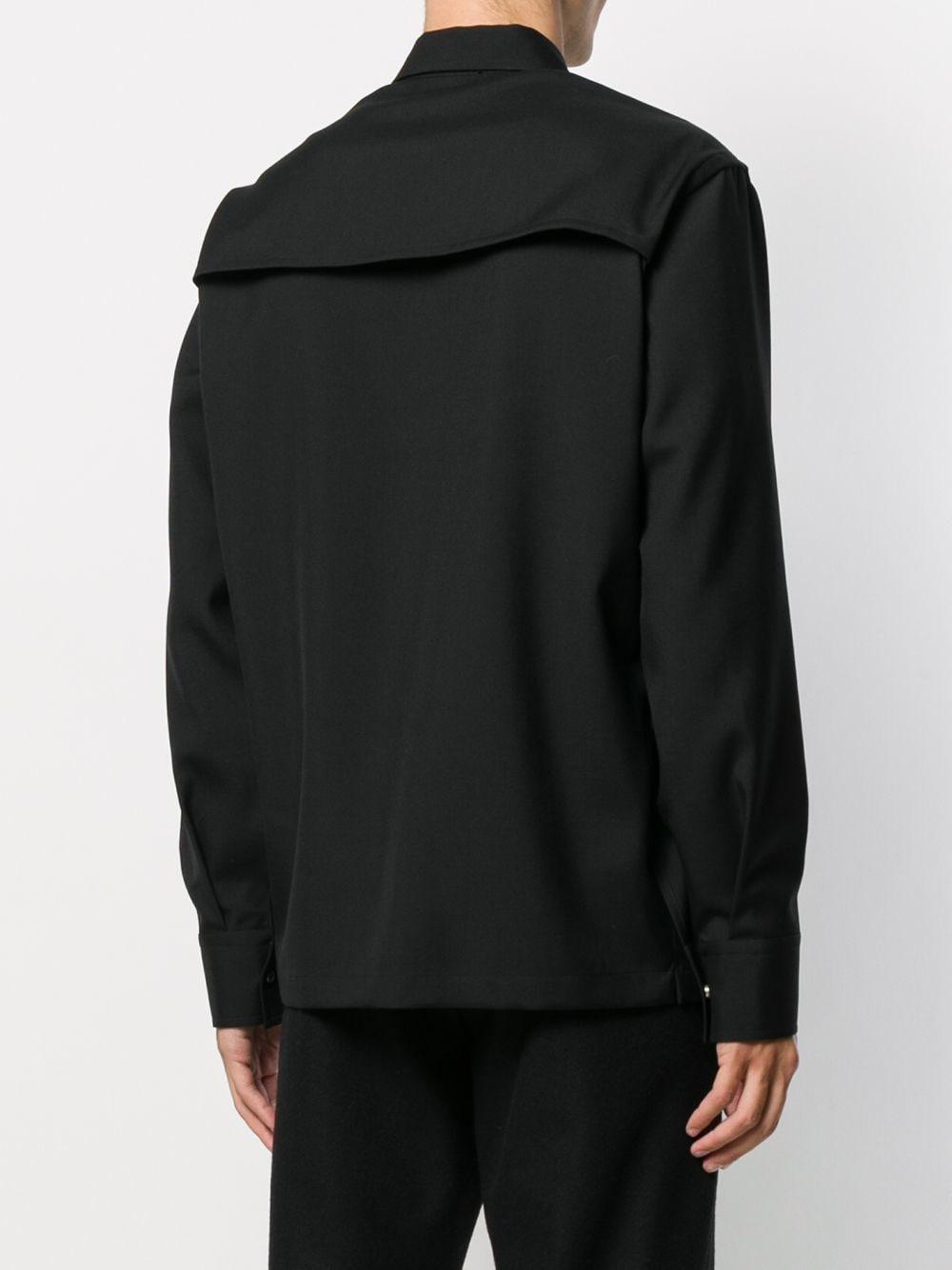 Jil Sander Wol Overhemd Met Riem in het Zwart voor heren