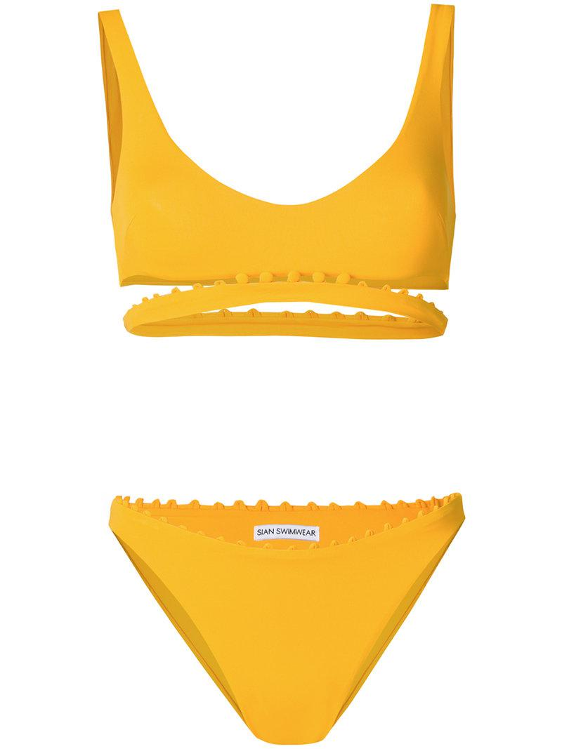 Liliana two-piece bikini - Yellow & Orange Sian Swimwear 2018 Cool Cut-Price Outlet Where To Buy dpGZV